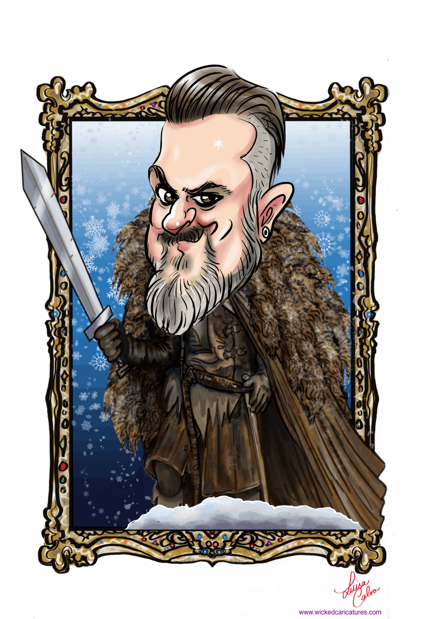 Gameof Thrones themed Digital caricatures by Luisa Calvo for Cisco in Brighton