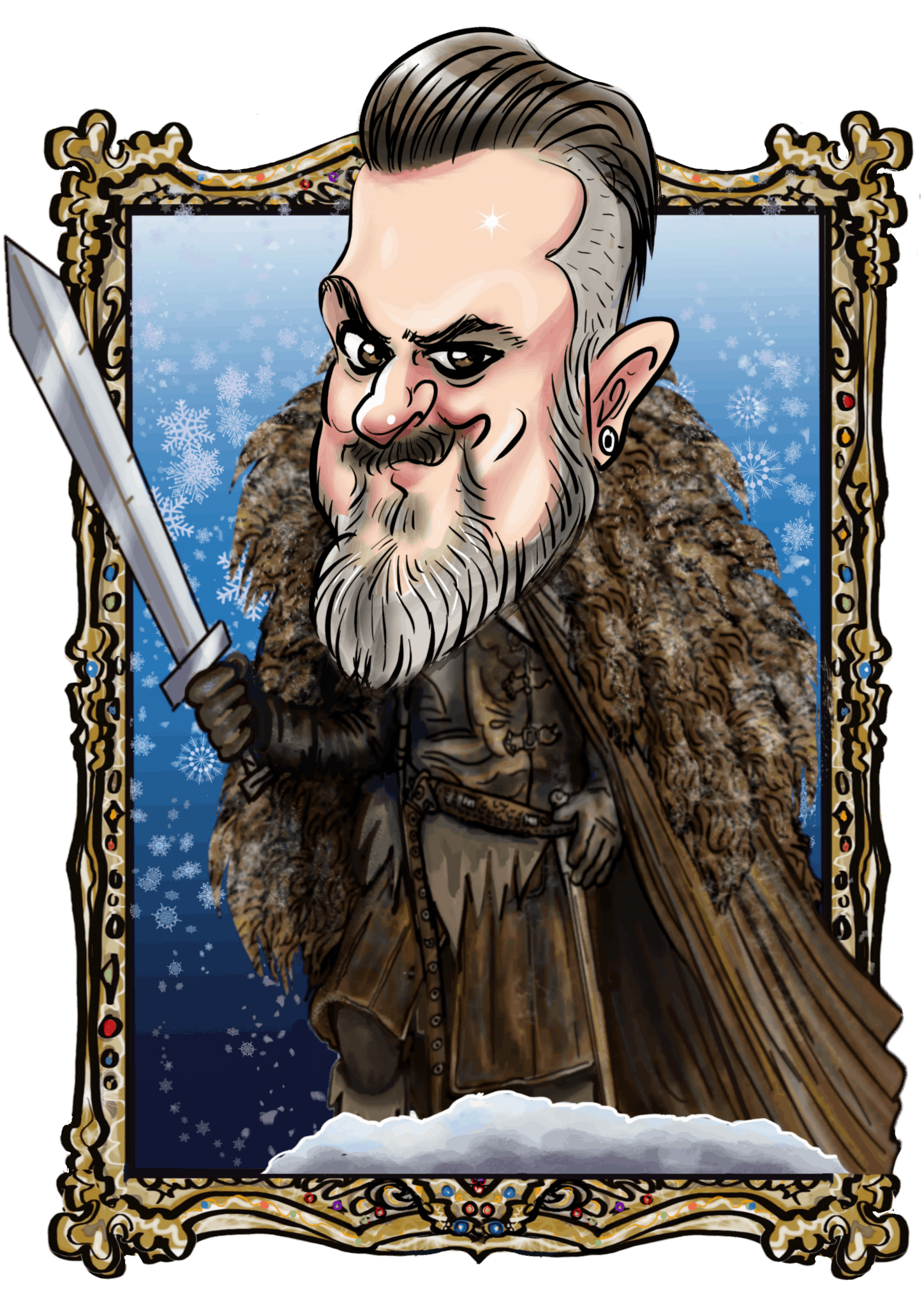 GAME OF THRONES THEMED DIGITAL CARICATURES WITH TRANSPARENT BACKGROUND by Luisa Calvo