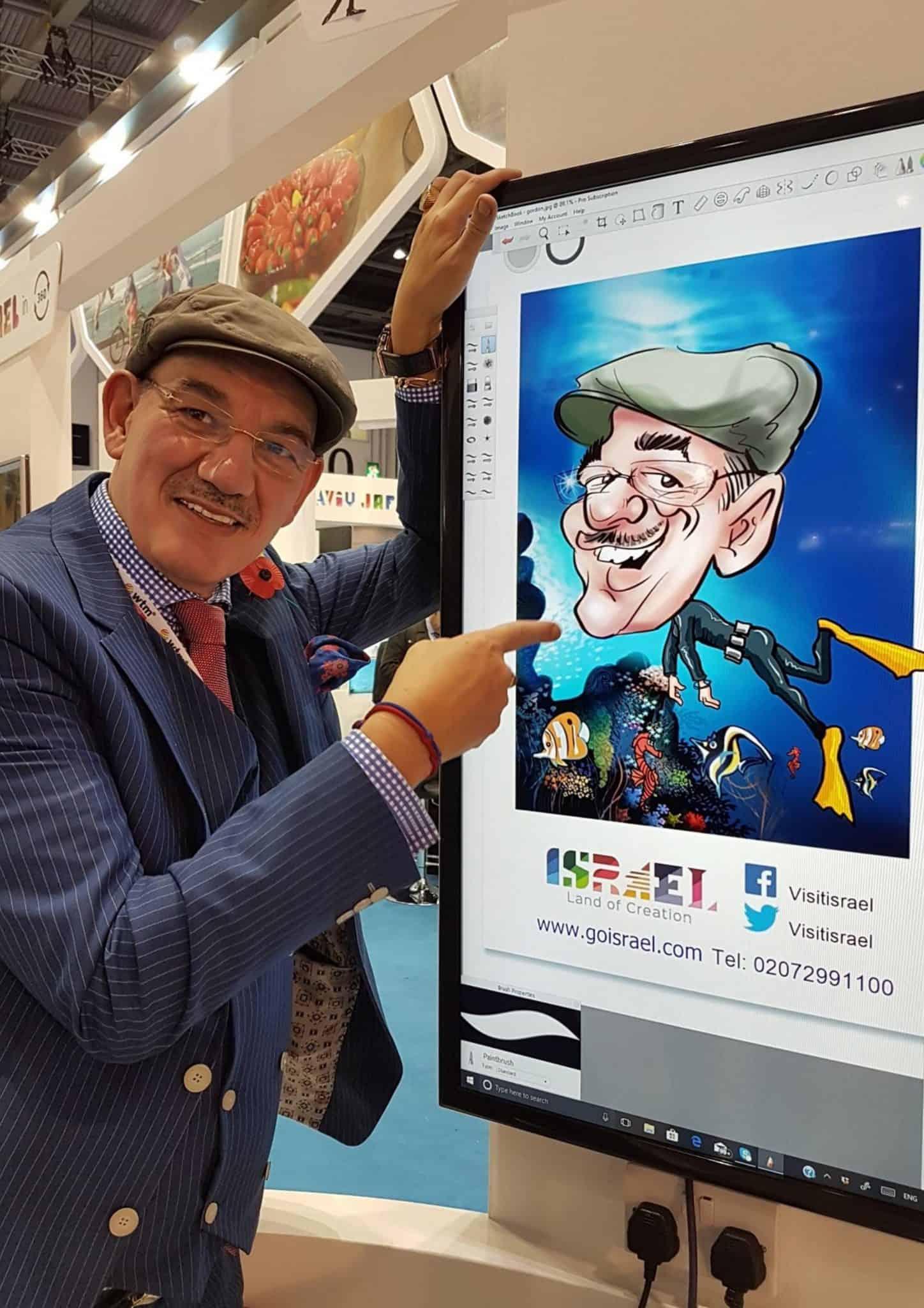 LIVE digital caricatures at ITB BERLIN 2017 BY LUISA CALVO