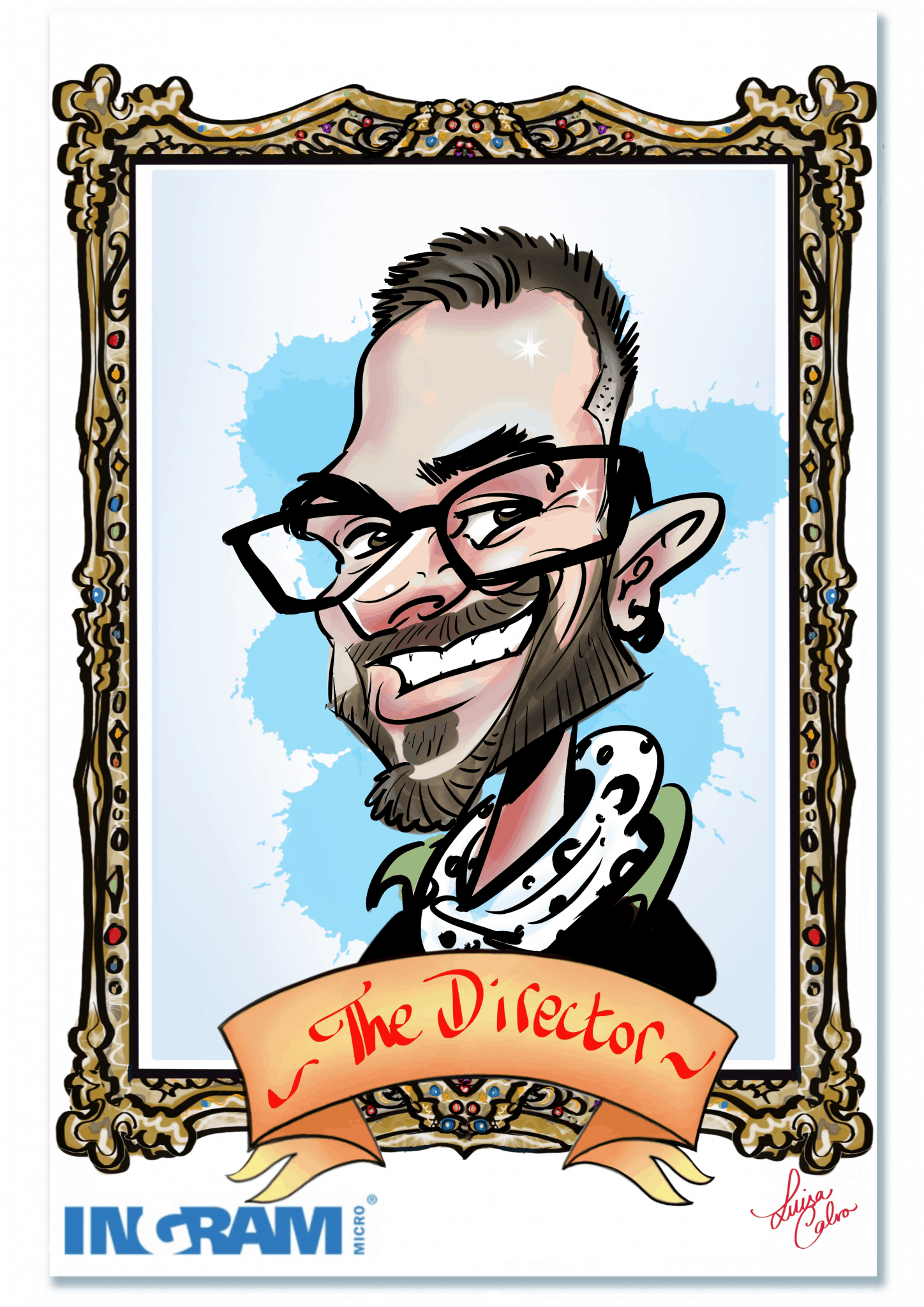 Live digital caricature for Cisco by Luisa Calvo