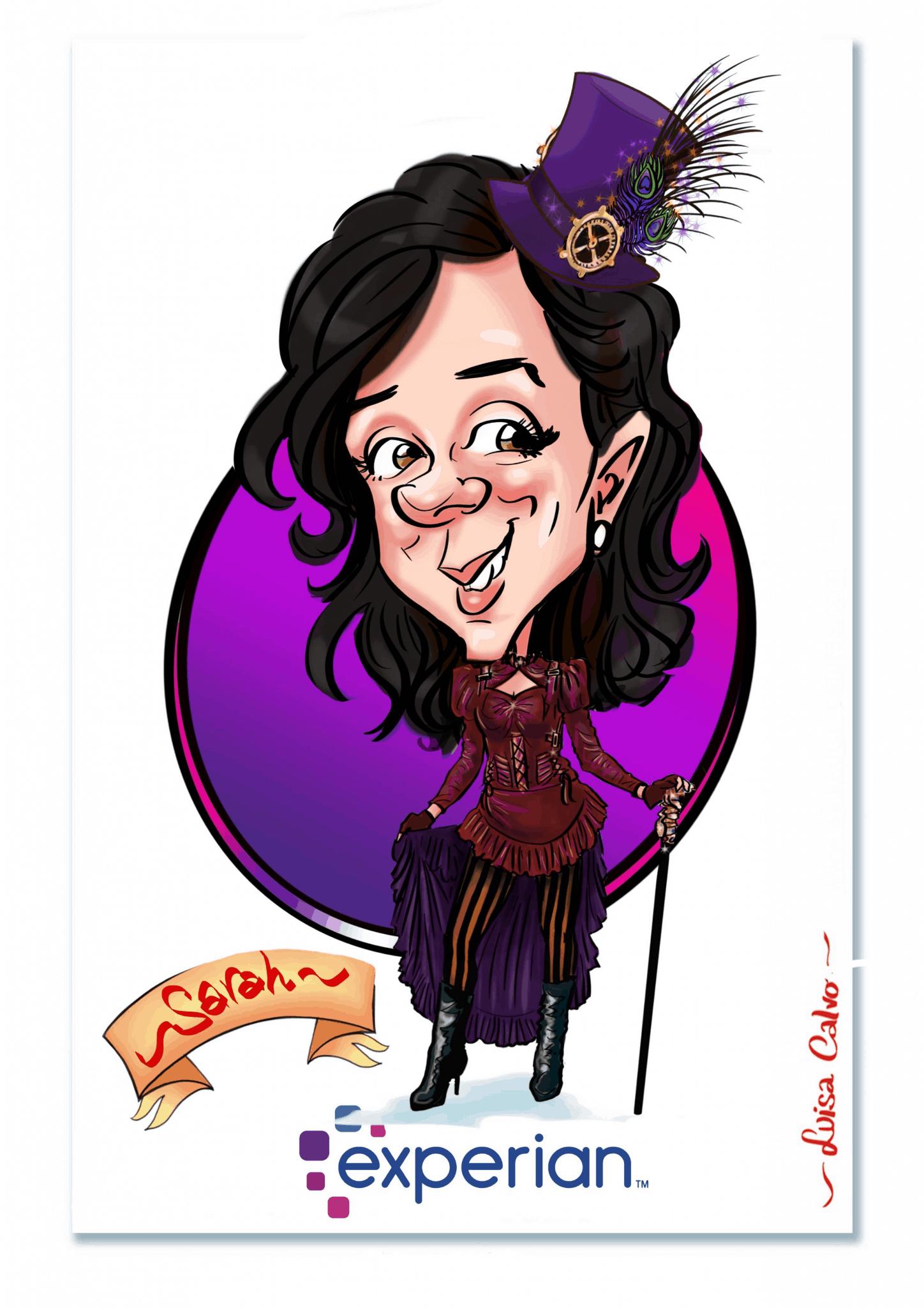 Steampunk caricature BY LUISA CALVO