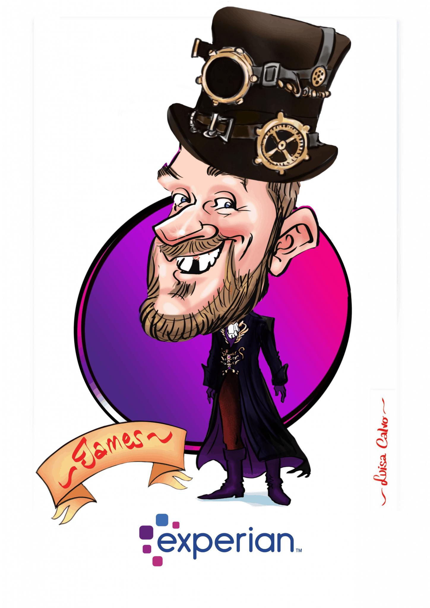 Steeampunk caricature BY LUISA CALVO