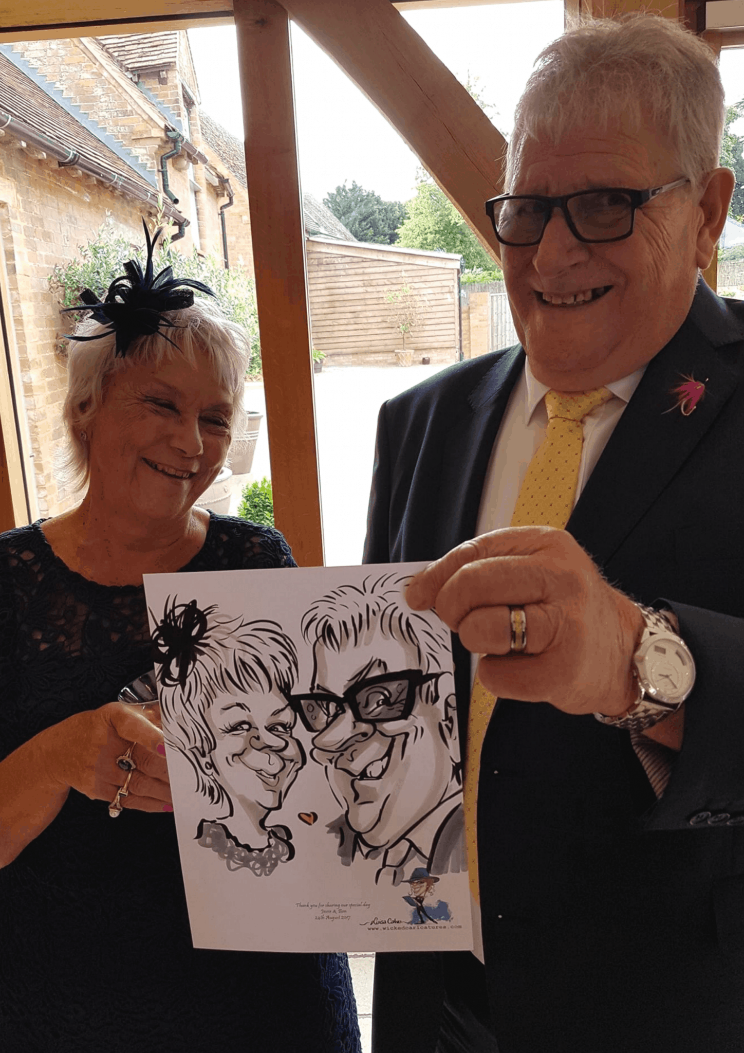 Wedding caricatures by Wicked Caricatures Ltd..