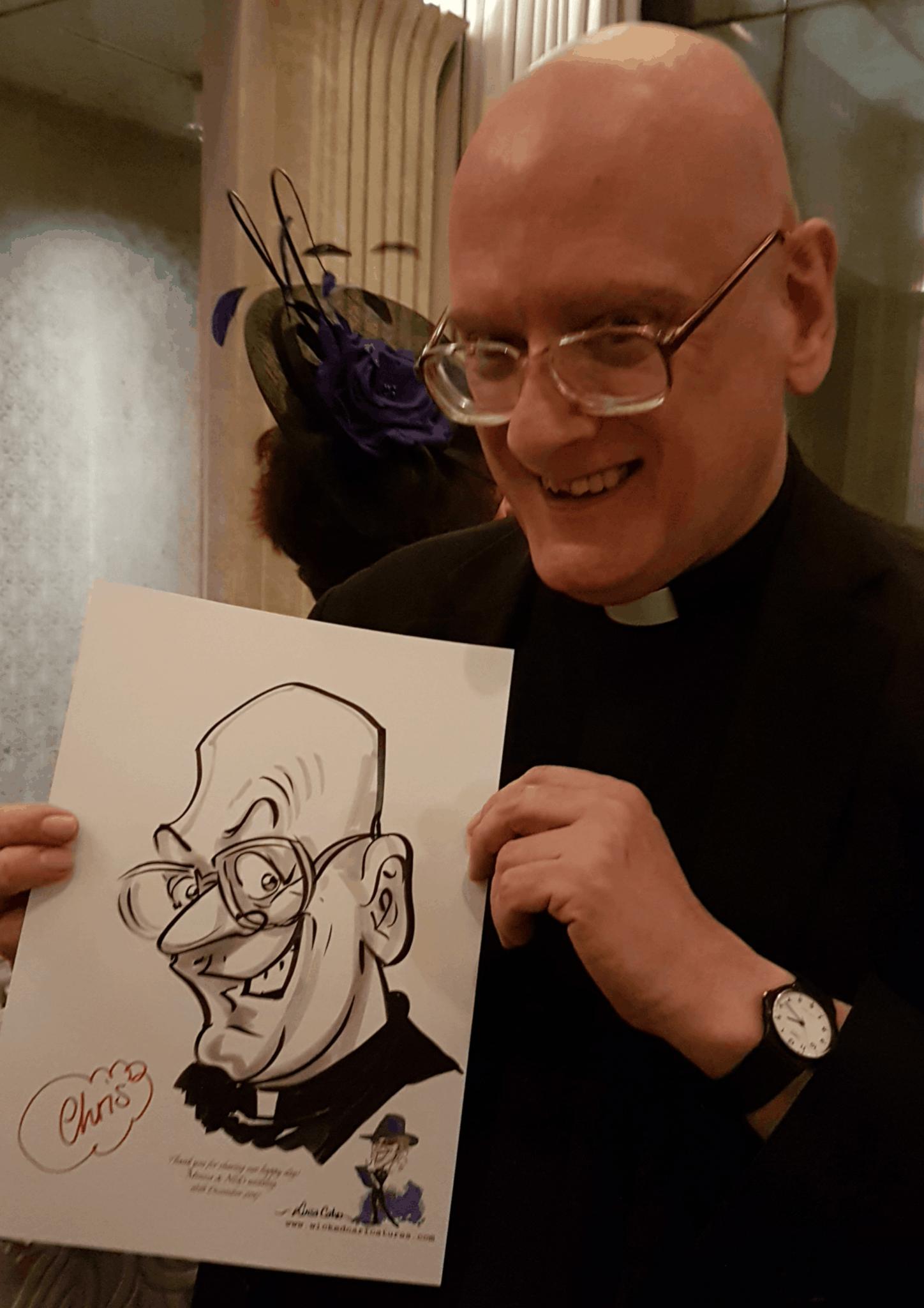vicar caricature Wicked Caricatures Ltd – by caricaturist Luisa Calvo