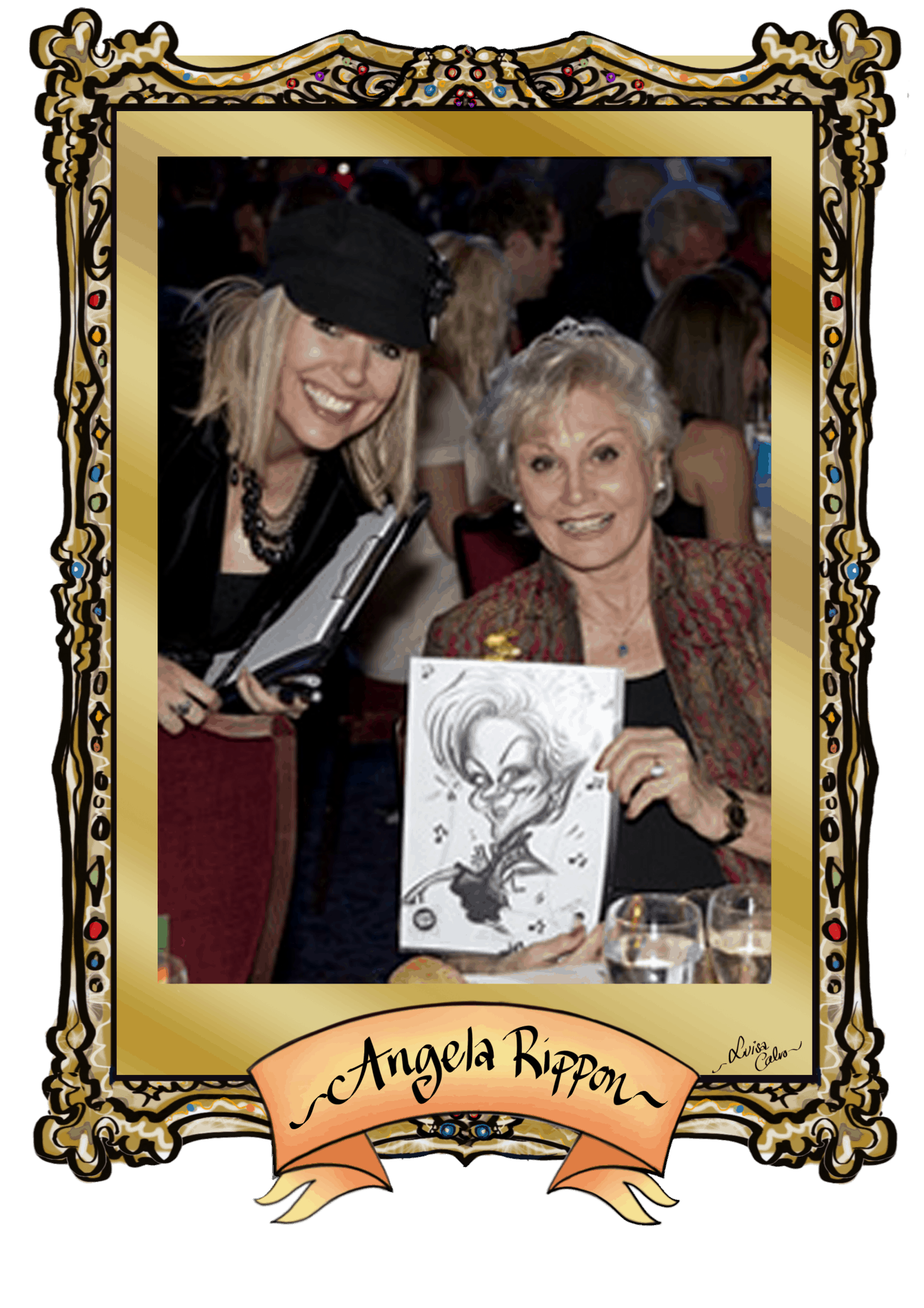 ANGELA RIPPON CARICATURE – BY LUISA CALVO