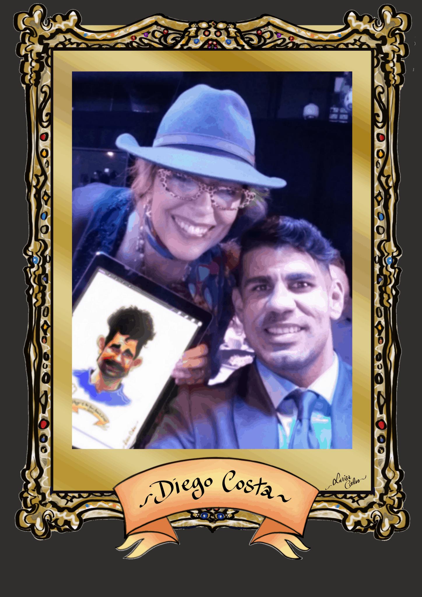 DIEGO COSTA – DRAWN BY LUISA CALVO AT THE EMIRATES STADIUM