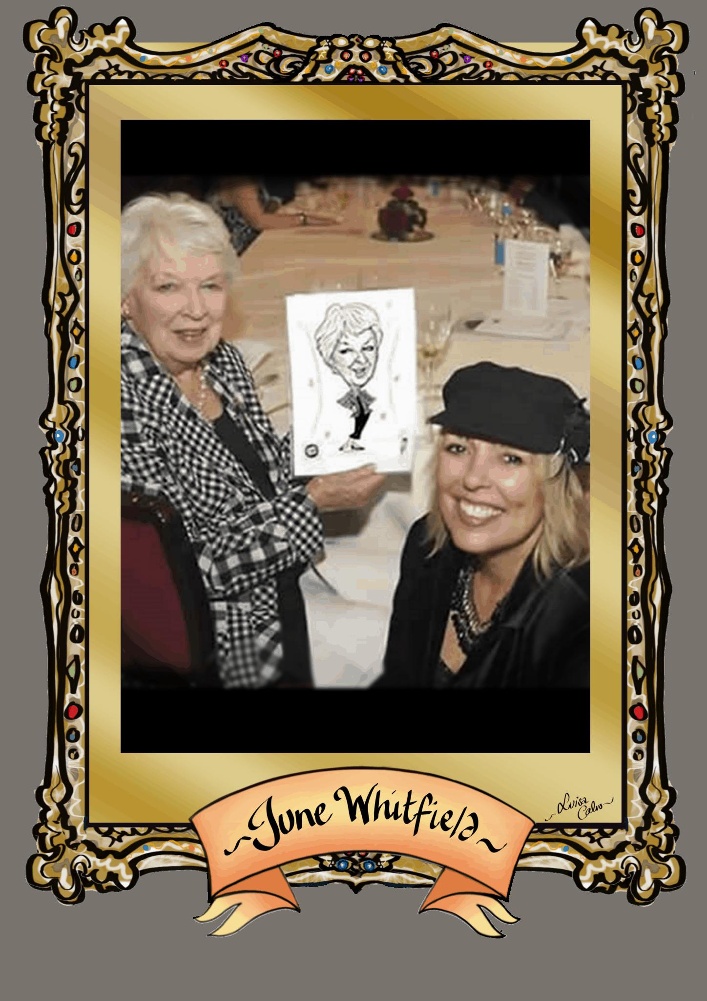 JUNE WHITFIELD CARICATURE BY LUISA CALVO
