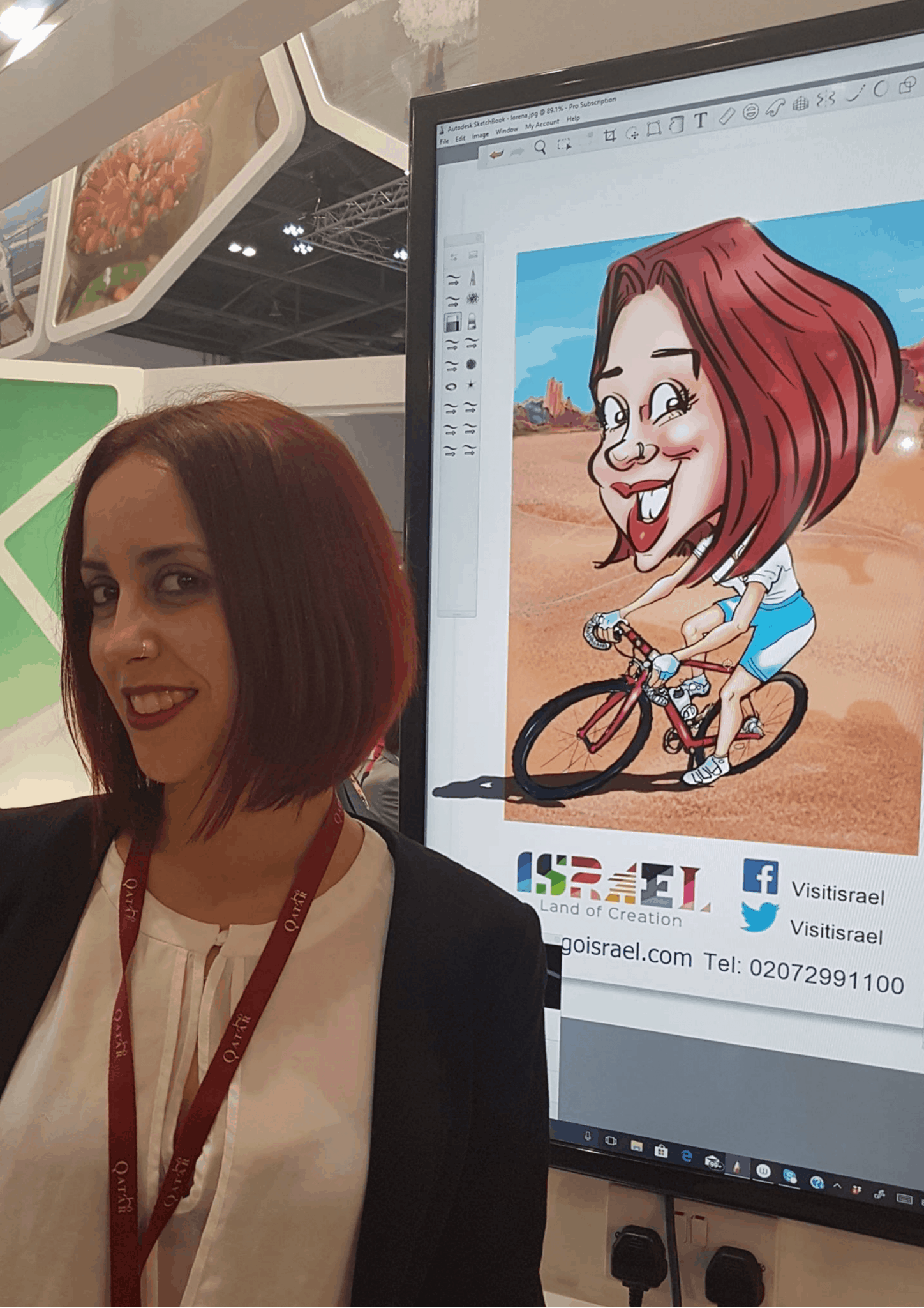 LIVE digital caricatures at ITB BERLIN 2018 – BY LUISA CALVO