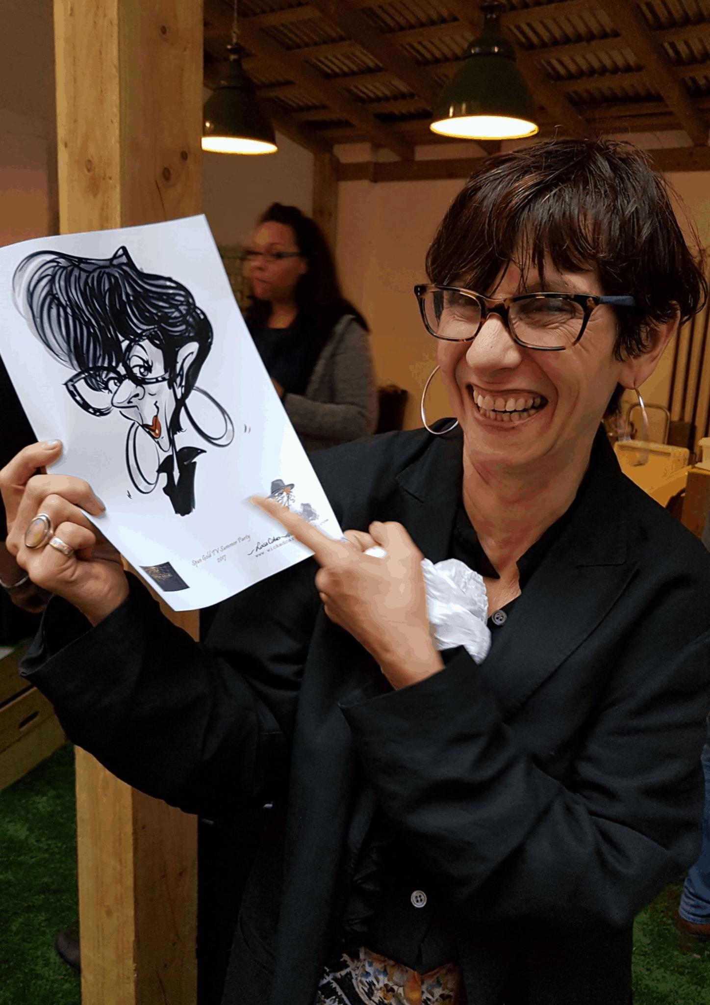 Luisa Calvo _ _caricature entertainment
