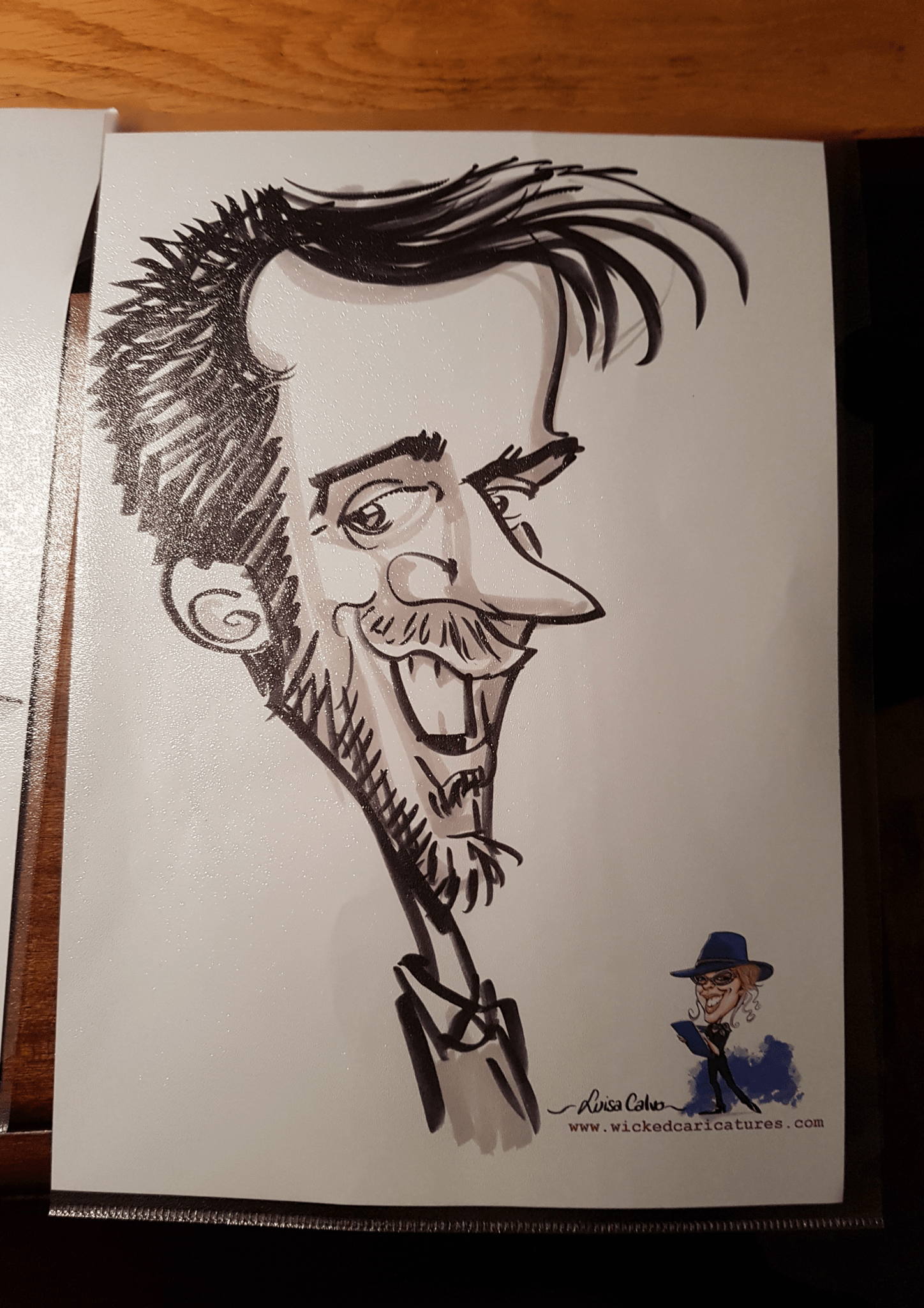 pen and ink caricatures by Luisa Calvo